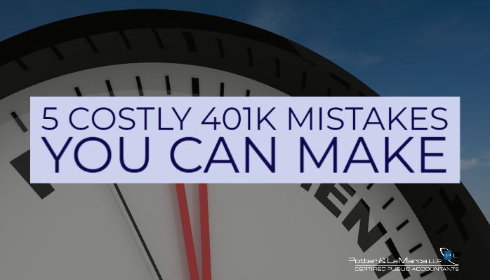 5 Costly 401k Mistakes You Can Make